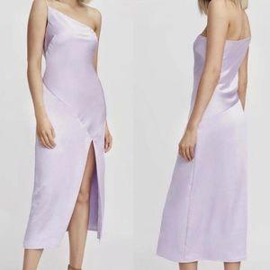 Kookai lavender silk dress